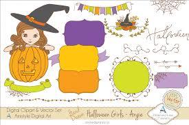 halloween clipart u0026 vector set amistyle digital art