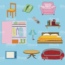 Interior Stuff by Set Of Interior Stuff Stock Vector Art 474969483 Istock