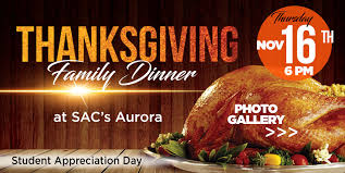 thanksgiving family dinner in st augustine college