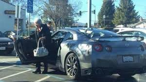 old nissan coupe old lady uses nissan gt r to do her everyday shopping