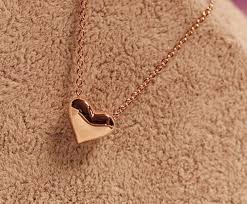 gold love pendant necklace images Wholesale small heart love 18k gold plated choker clavicular chain jpg