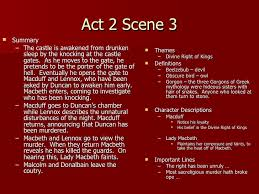 Themes Of Macbeth Act 2 Scene 1 | act 2 notes teacher