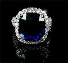 dalphine sapphire blue cushion cut halo cocktail ring 22ct