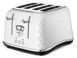 4slice Toasters Brillante 4 Slice Toaster Ctj4003w Delonghi Australia