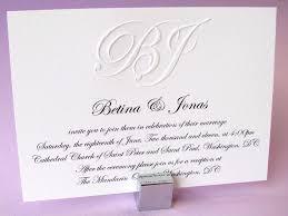 wedding invitations embossed custom embossed monogram wedding invitation digby digby