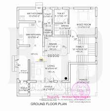 Traditional Home Floor Plans 1700 Sq Feet 3d House Elevation And Plan Kerala Home Design
