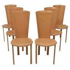 Italian Leather Dining Chairs Vintage Used Italian Dining Chairs Chairish
