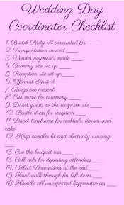 day of wedding coordinator best 25 wedding coordinator checklist ideas on