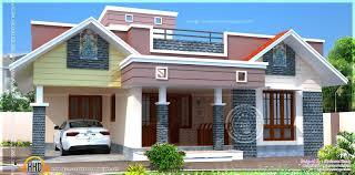 floor plan modern single home kerala designone house design plans