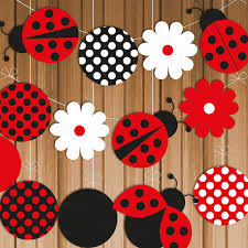 ladybug printable party banner u0026 hanging decorations instant
