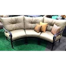 curved patio sofa