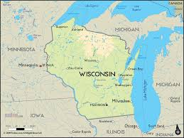 Wisconsin Topographic Map by Packerville Usa Week 5 Tv Map North South America Map Stock