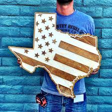 american flag two tone wood wall country rebel