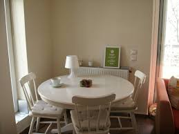 Cozy Dining Room Furniture Docksta Table In White With Black Wood Chairs For