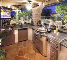 extensive u shaped prefabricated outdoor kitchen islands with