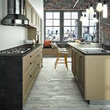 cuisine couleur taupe cuisine taupe et bois idee deco cuisine ouverte sur