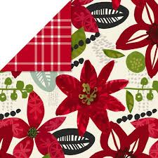 reversible christmas wrapping paper hallmark poinsettias plaid reversible christmas wrapping paper