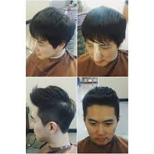 before after soft two block haircut by woogie hillsbeautyclub