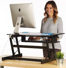 Sit Stand Adjustable Desk by Amazon Com Standing Desk Adjustable Height Sit Stand Up Desktop