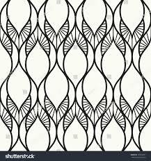 seamless pattern linear modern ornament geometric stock vector