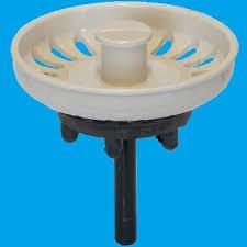 Indian Ivory Kitchen Sink Basket Strainer Waste Plug - Kitchen sink waste strainer