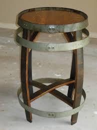 Wine Barrel Bar Table Furniture Wine Barrel Bar Stools Vintage Oak Half With Leather