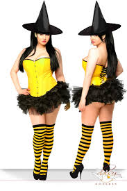4 pc yellow candy pin up witch costume amiclubwear costume