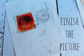 finish the picture kid craft monday a and a glue gun