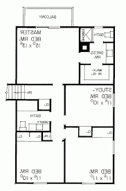 floor home design split level house plan colored with room names