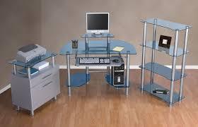 Glass Corner Computer Desks For Home Interior Design Frosted Glass Desk Metal Computer Desk Glass And