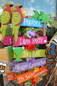 themed signs tropical luau party ideas luau party directional signs and