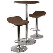 round bar table and stools funiture contemporary bar table sets with rounded tall table made