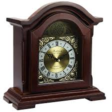 Chiming Mantel Clocks Bedford Clock Collection Redwood Mantel Clock With Chime
