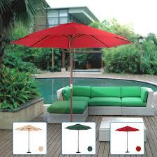 Patio Umbrella Cord by Red Ikayaa 2 7m Wooden Patio Garden Outdoor Umbrella Lovdock Com