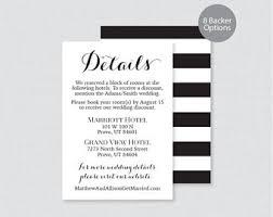 wedding inserts invitation insert etsy