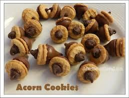 it s written on the wall fall treat acorn cookies hershey