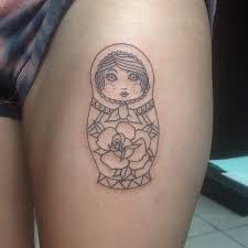 tattoo on thigh ideas 80 cool matryoshka tattoos
