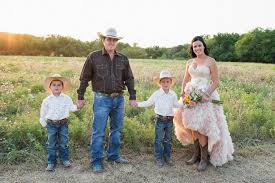 western wedding western chic wedding pink ruffles and cowboy boots the