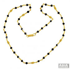 gold black bead necklace images Gold black beads chain 22k ajch57178 us 891 22k gold chain jpg