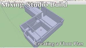 mixing studio build creating a floor plan using sketchup youtube