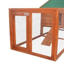 Outdoor Rabbit Hutch Plans Amazon Com Pawhut 122