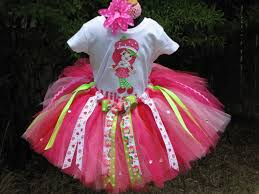 strawberry shortcake ribbon personalized strawberry shortcake ribbon tutu set tutu