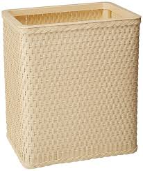 amazon com lamont home carter rectangular wastebasket cappuccino