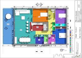 plan maison 3 chambres plain pied garage cuisine couleur maison construction le plan de maison plain pied