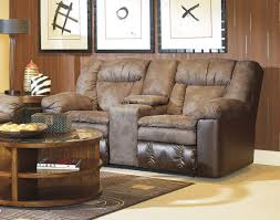 furniture elegant reclining loveseat with console for modern