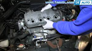 1997 honda accord gasket how to replace install leaking valve cover gasket 1 6l sohc 1996