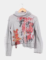 sweater house sweater house jersey cuello cisne con dibujo descuento 72 micolet