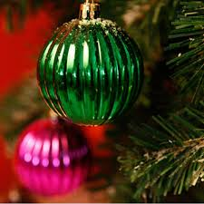 6pcs christmas xmas tree hanging ball baubles watermelon shape