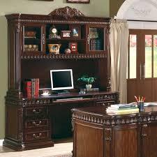 computer desk and credenza union hill 3 piece executive desk set wood hutch office furniture