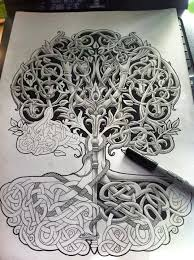 beautiful celtic tree sketch tattooshunt com